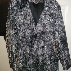 Snake print trench coat...never worn